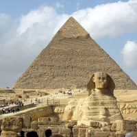The Great Sphinx and the pyramids of Giza
